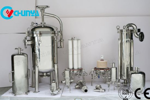 Industrial Stainless Steel Water Single Cartridge Filter Housing Machine