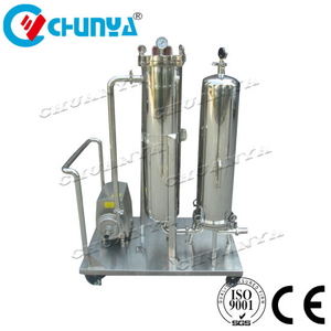 Industrial High Quality Ss Movable Bag Filter with Vacuum Pump