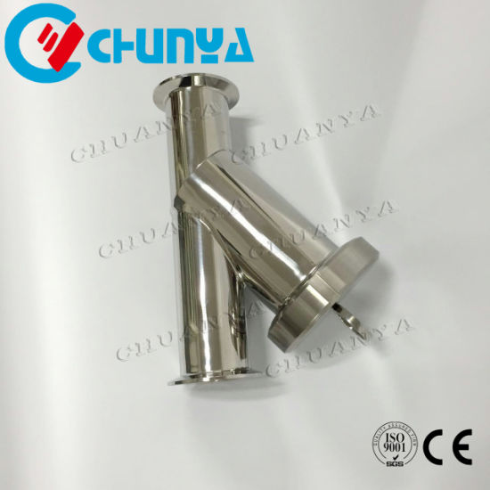 Valve Sanitary Y-Type Stainless Steel Water Filter Housing