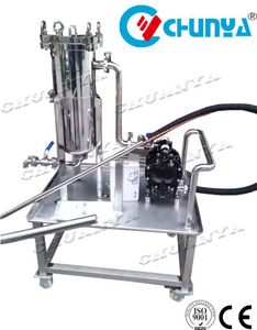 Stainless Steel Polished Movable Bag Filter with Water Pump