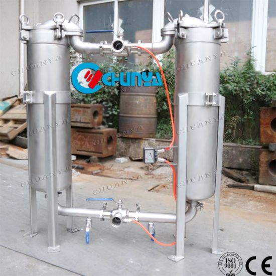 Industrial Stainless Steel Polished Duplex Bag Filter Housing