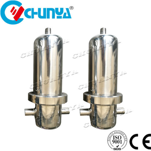 SS304 SS316 Compressed Air Filter Housing with Sterile Membrane Cartridge Filter