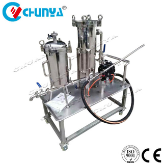 Stainless Steel Customized Bag Filter Housing with Water Pump