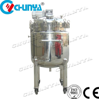 Stainless Steel Movable Dimple Jacketed Mixing Tank 500L Juice Mixing Tank