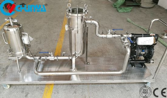 Auto Movable Bag Filter Housing with Vacuum Pump