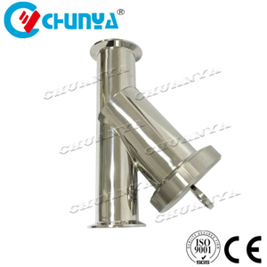 Multi Stage High Quality Valve Sanitary Y-Type Stainless Strainer Steel Water Filter Housing