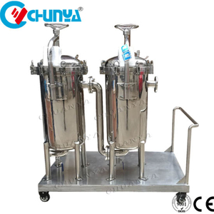 Industrial Duplex bag filter housing for RO Water Treatment System