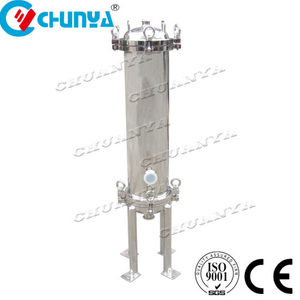 Industrial Stainless Steel Polished Multi Cartridge Filter Housing Machine
