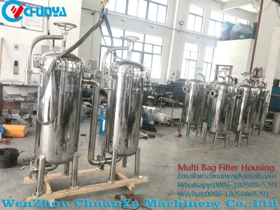 Stainless Steel Polished Sanitary Duplex Bag Filter Housing
